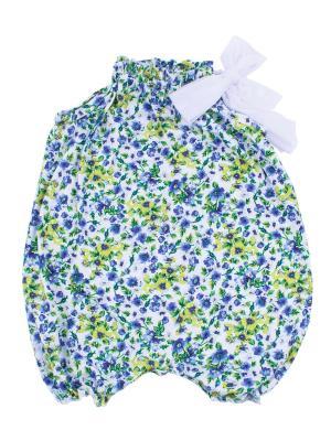 Комбинезон, коллекция Летний луг Апрель. Цвет: голубой, белый, желтый