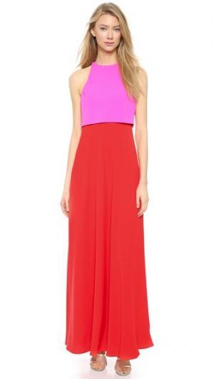 Двухцветное вечернее платье Jill Stuart. Цвет: розовый/ярко-красный