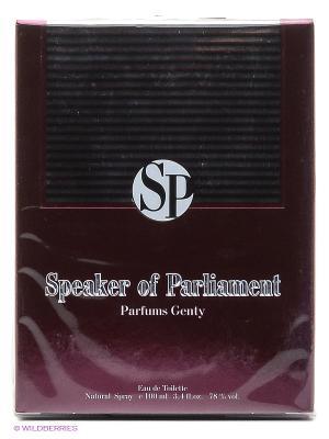 Туалетная вода SPEAKER OF PARLIAMENT EDT 100 ML SPRAY PARFUMS GENTY. Цвет: прозрачный