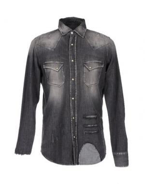 Джинсовая рубашка PENCE. Цвет: свинцово-серый
