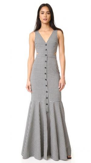 Платье Judith в клетку гингем Marissa Webb. Цвет: береза