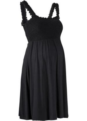 Мода для беременных: трикотажное платье (черный) bonprix. Цвет: черный