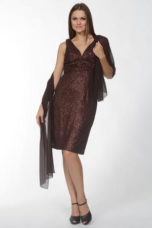 Платье Manys Tune. Цвет: коричневый
