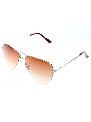 Очки солнцезащитные Bijoux Land. Цвет: коричневый