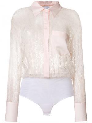 Прозрачная кружевная рубашка Dondup. Цвет: none