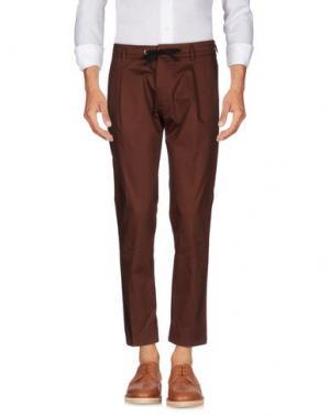 Повседневные брюки HŌSIO. Цвет: какао