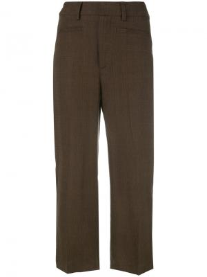 Укороченные брюки Dondup. Цвет: коричневый