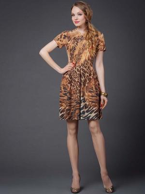 Платье Арт-Деко. Цвет: коричневый