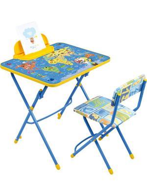 Комплект мебели (стол-парта+пенал+стул.мгк) Nika. Цвет: синий