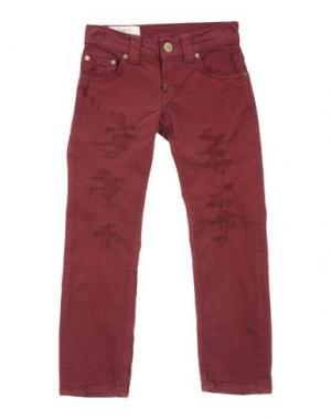 Джинсовые брюки DONDUP DQUEEN. Цвет: красно-коричневый