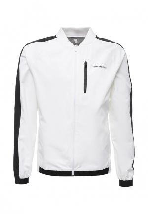 Ветровка adidas Neo. Цвет: белый