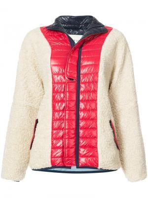 Fleece padded zip up jacket Sandy Liang. Цвет: белый