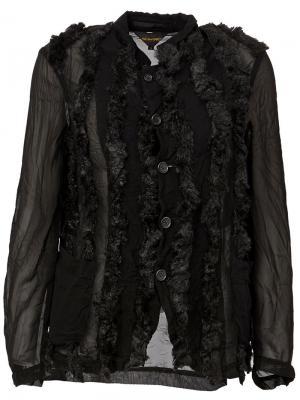 Куртка с отделкой из искусственного меха Comme Des Garçons. Цвет: чёрный
