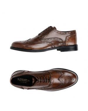 Обувь на шнурках THOMPSON. Цвет: коричневый