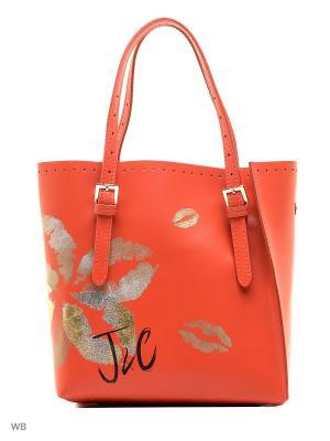 Сумка Jacky&Celine. Цвет: коралловый