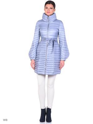 Пальто Clasna. Цвет: голубой