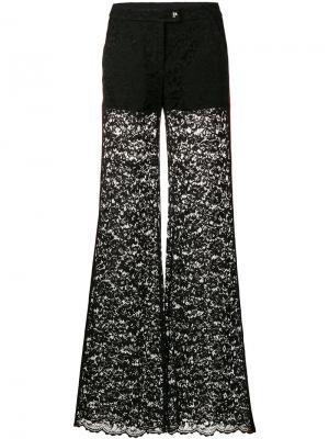 Расклешенные брюки с контрастными панелями Philipp Plein. Цвет: чёрный