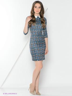 Платье La Fleuriss. Цвет: синий