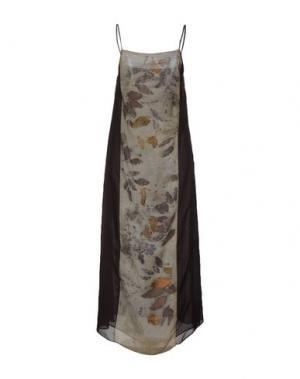 Длинное платье MAISON LAVINIATURRA. Цвет: темно-коричневый