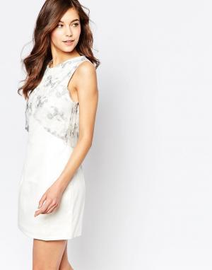 Hedonia Двойное платье Pippa. Цвет: белый