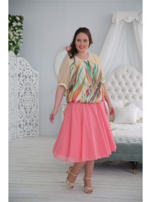 Блузка LUDMILA. Цвет: бежевый