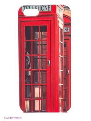 Чехол для IPhone 5 Будка в Лондоне Mitya Veselkov. Цвет: красный, голубой