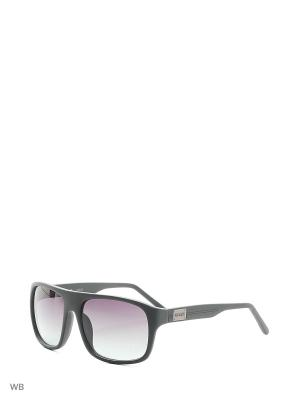 Солнцезащитные очки GUF 0116 I55 GRN-66 GUESS. Цвет: хаки