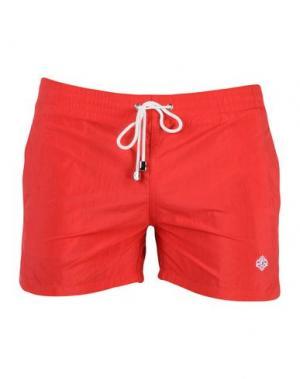 Пляжные брюки и шорты LUIGI BORRELLI NAPOLI. Цвет: красный