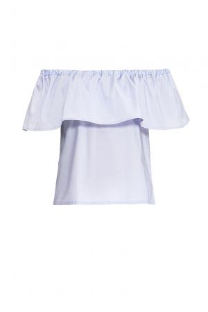 Блуза из хлопка 169887 Private Sun. Цвет: фиолетовый