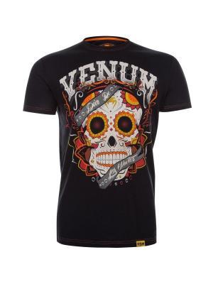 Футболка Venum Santa Muerte Black. Цвет: черный