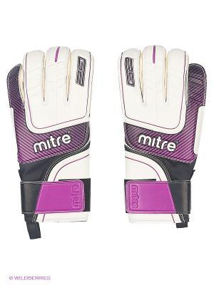 Перчатки вратарские MITRE Anza G2 Zirconium взрослые. Цвет: белый, черный, фиолетовый