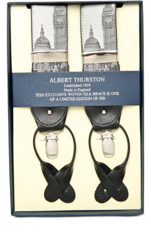 Подтяжки Albert Thurston. Цвет: серебряный