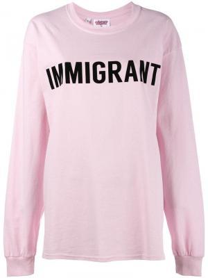 Футболка Immigrant Ashish. Цвет: розовый и фиолетовый