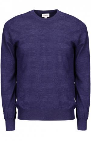 Вязаный пуловер Brioni. Цвет: синий