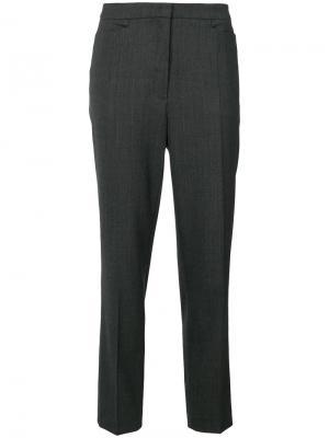 Укороченные брюки-сигареты Odeeh. Цвет: серый
