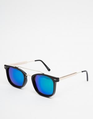Spitfire Квадратные солнцезащитные очки в черной оправе Mainstream2. Цвет: черный