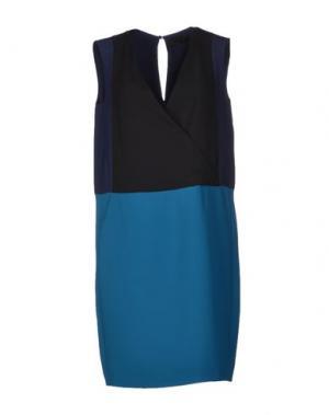 Короткое платье JO NO FUI. Цвет: цвет морской волны