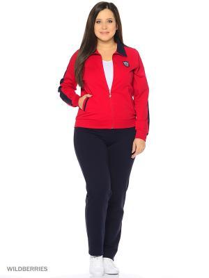 Домашний костюм Nicole collection. Цвет: красный, темно-синий