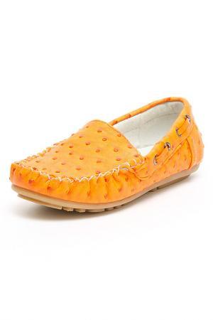 Туфли школьные MURSU. Цвет: оранжевый
