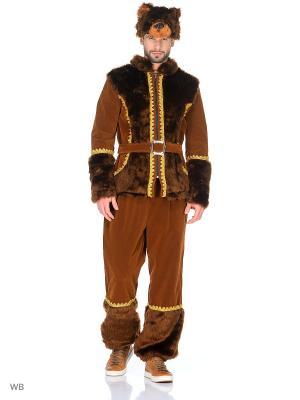 Карнавальный костюм Медведь Батик. Цвет: коричневый