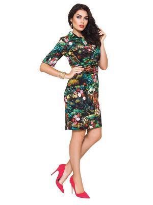 Платье E.Levy. Цвет: зеленый