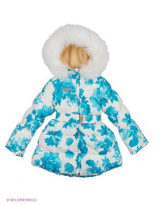 Пальто BOOM. Цвет: белый, бирюзовый