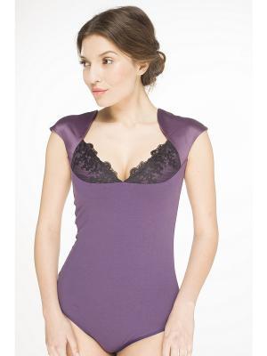 Блузка- боди Arefeva. Цвет: фиолетовый