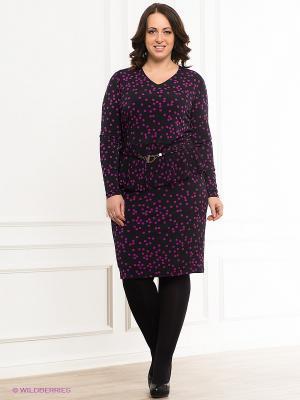 Платье VERDA. Цвет: черный, фиолетовый
