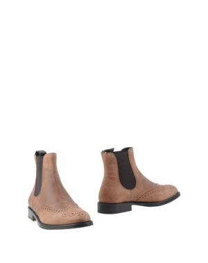 Полусапоги и высокие ботинки BORGIOLI. Цвет: песочный