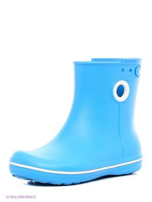 Резиновые сапоги CROCS. Цвет: голубой