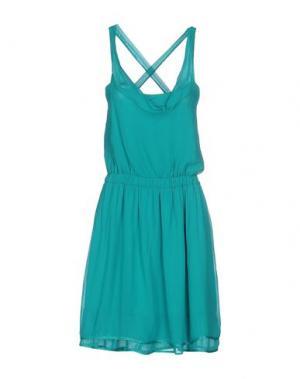 Платье до колена JEI O'. Цвет: бирюзовый