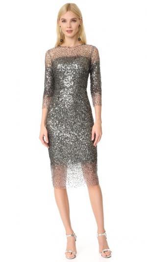 Платье Illusion Monique Lhuillier. Цвет: пушечная бронза