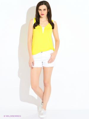 Топ DOCTOR E. Цвет: желтый, белый