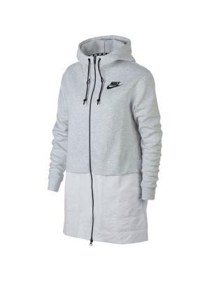 Куртка W NSW AV15 PRKA Nike. Цвет: серый